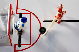 Bubble Hockey Offensive Shot